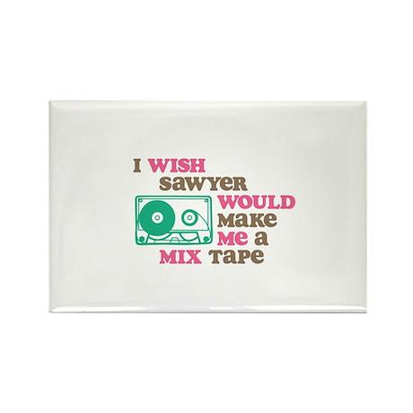 Sawyer Mix Tape Ornament Magnets