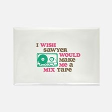 Sawyer Mix Tape Ornament Magnets