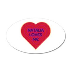 Natalia Loves Me Wall Decal