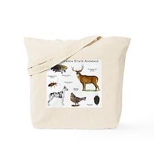 Pennsylvania State Animals Tote Bag