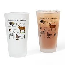 Pennsylvania State Animals Drinking Glass