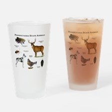 Pennsylvania State Animals Drinking Glass