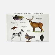 Pennsylvania State Animals Rectangle Magnet