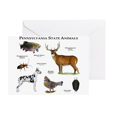 Pennsylvania State Animals Greeting Cards (Pk of 1