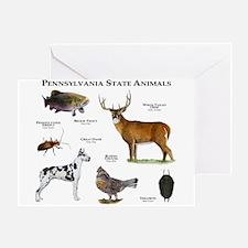 Pennsylvania State Animals Greeting Card