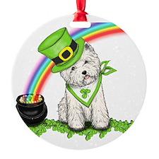 Shamrock Westie Ornament