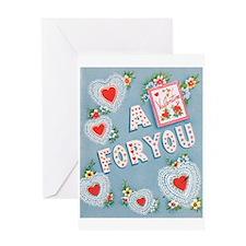 Vintage/Retro Valentine Greeting Card