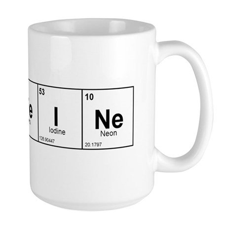 CaFFeINe (Black) Large Mug