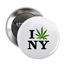 "I Love Cannabis New York 2.25"" Button"