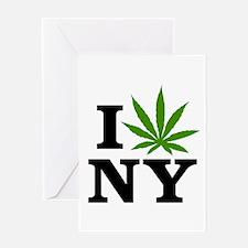 I Love Cannabis New York Greeting Card