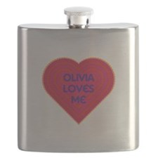 Olivia Loves Me Flask