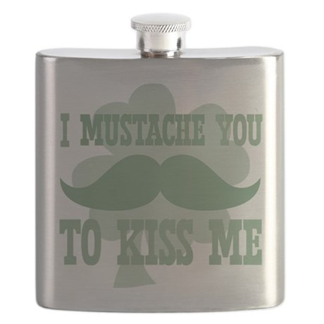 I mustache you to kiss me Flask