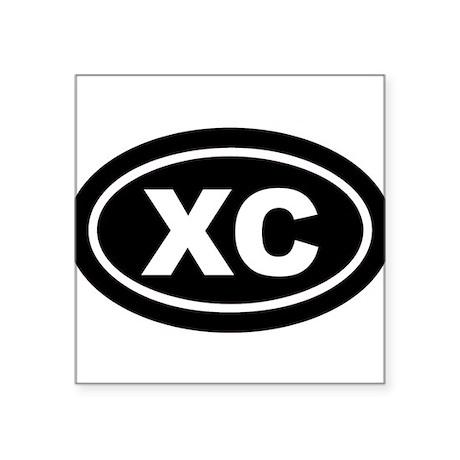XC Cross Country Black Euro Oval Sticker