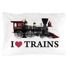 I LOVE TRAINS copy.png Pillow Case