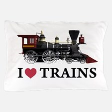 I LOVE TRAINS copy.png Pillow Case