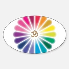 Om Rainbow Flower Decal