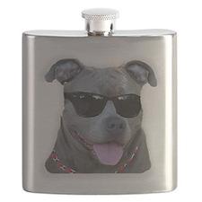 Pitbull in sunglasses Flask