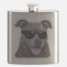 Pitbull in sunglasses Flask