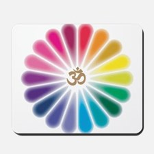 Om Rainbow Flower Mousepad