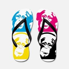 4 DJ monkeys Flip Flops