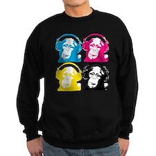 4 DJ monkeys Sweatshirt
