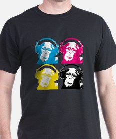 4 DJ monkeys T-Shirt