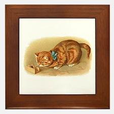 Victorian Cat Framed Tile