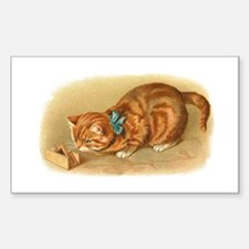 Victorian Cat Rectangle Decal