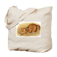 Victorian Cat Tote Bag