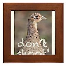 Don't Shoot! Framed Tile