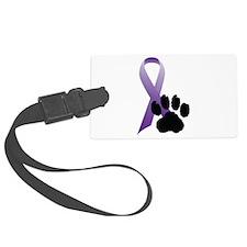 Purple-Ribbon-Pawprint-Black-Pawprint.gif Luggage Tag