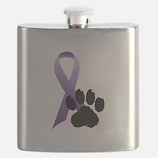 Purple-Ribbon-Pawprint-Black-Pawprint.gif Flask