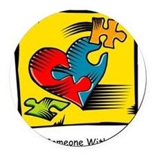 Cool Autistic advocacy Round Car Magnet
