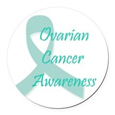 Ovarian Cancer Awareness Round Car Magnet