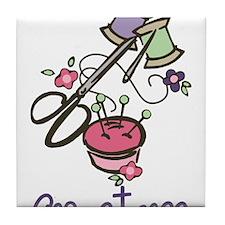 Seamstress Tile Coaster