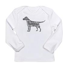 Labrador Typography Art Long Sleeve T-Shirt