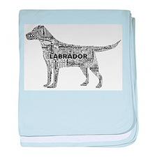 Labrador Typography Art baby blanket