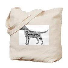 Labrador Typography Art Tote Bag