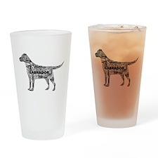 Labrador Typography Art Drinking Glass