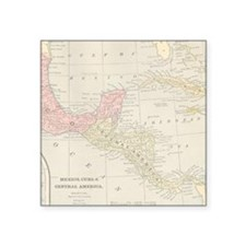 Vintage Central America Map Sticker