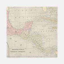 Vintage Central America Map Queen Duvet