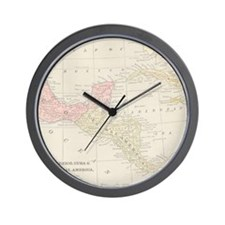 Vintage Central America Map Wall Clock