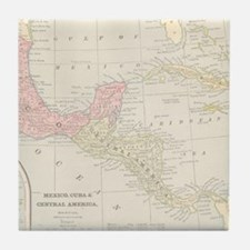 Vintage Central America Map Tile Coaster