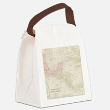 Vintage Central America Map Canvas Lunch Bag