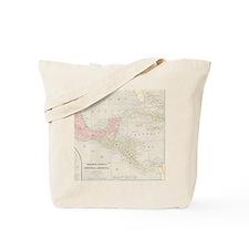 Vintage Central America Map Tote Bag