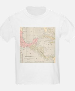 Vintage Central America Map T-Shirt