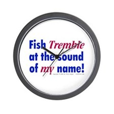 Fish Tremble... Wall Clock