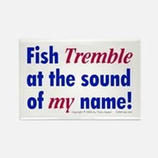 Fish Tremble... Rectangle Magnet