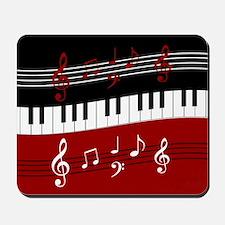 Stylish Piano keys and musical notes Mousepad