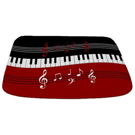 Stylish Piano Keys And Musical Notes Bathmat